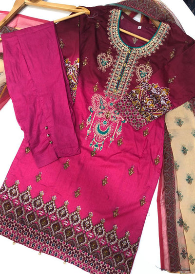 BA283 A Readymade Embroidered Lawn Suit - Memsaab Online