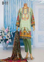 JUR11 Unstitched - Urwa - Viscose Suit by Javed Arts - Memsaab Online