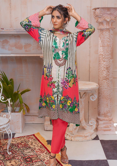 AMT20009 - Readymade Embroidered Lawn Dress - Memsaab Online