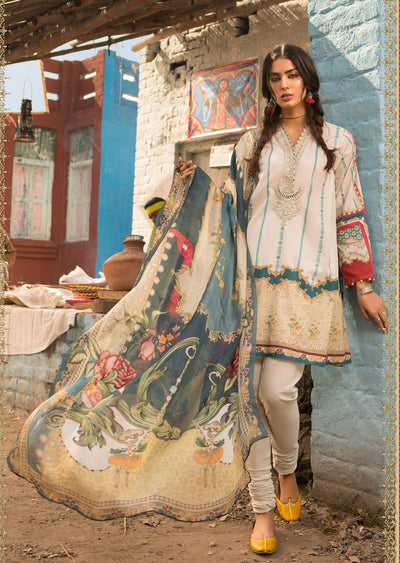 11B Maria B M Prints Unstitched 2019 - Pakistani Designer Embroidered Lawn Suit Spring / Summer UK DELIVERY - Memsaab Online