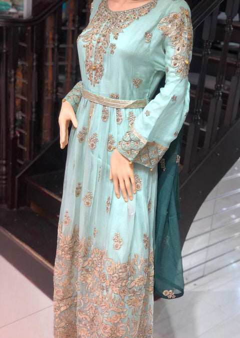 RMW1200 - Readymade Mint RMAW Fancy Chiffon Maxi Dress - Memsaab Online