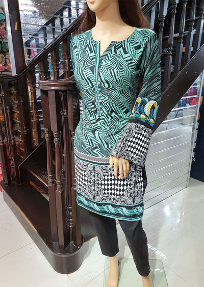 1233 - Readymade Gul Ahmed 2 Piece Suit Linen - Memsaab Online