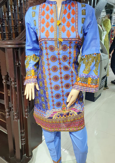 Z 1234 - Readymade Gul Ahmed Lawn Suit 2 piece - Memsaab Online