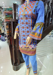 1234 - Readymade Gul Ahmed Lawn Suit 2 piece - Memsaab Online