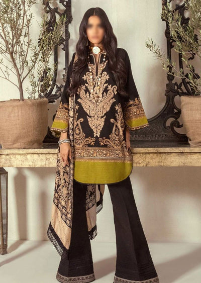 M203-012A - Unstitched - Sana Safinaz Muzlin Winter Collection 2020 - Memsaab Online