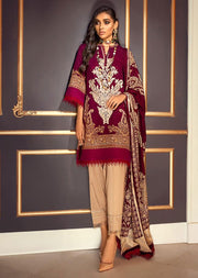M203-012B - Unstitched - Sana Safinaz Muzlin Winter Collection 2020 - Memsaab Online