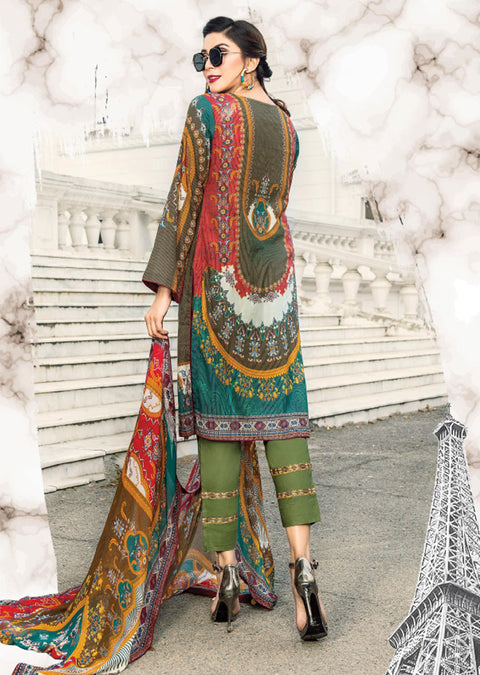 NS12 - Unstitched - Nishat Maysoori Embroidered Collection Vol 1 - Memsaab Online