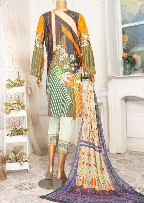 JA12 Unstitched - Yaqoot - Karandi Suit by Javed Arts - Memsaab Online