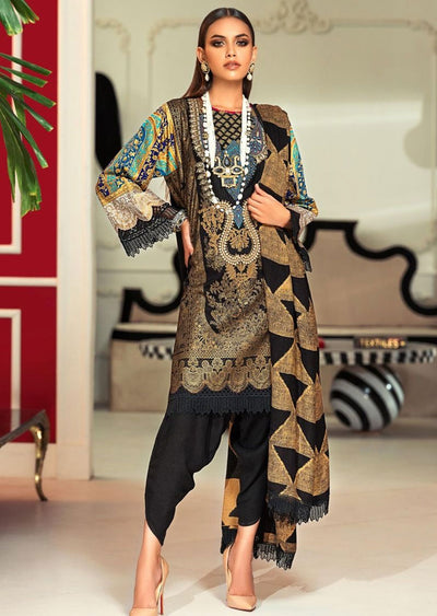 M203-013A - Unstitched - Sana Safinaz Muzlin Winter Collection 2020 - Memsaab Online