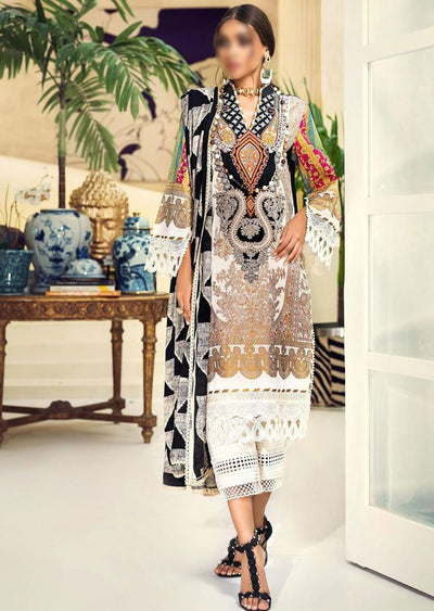 M203-013B - Unstitched - Sana Safinaz Muzlin Winter Collection 2020 - Memsaab Online