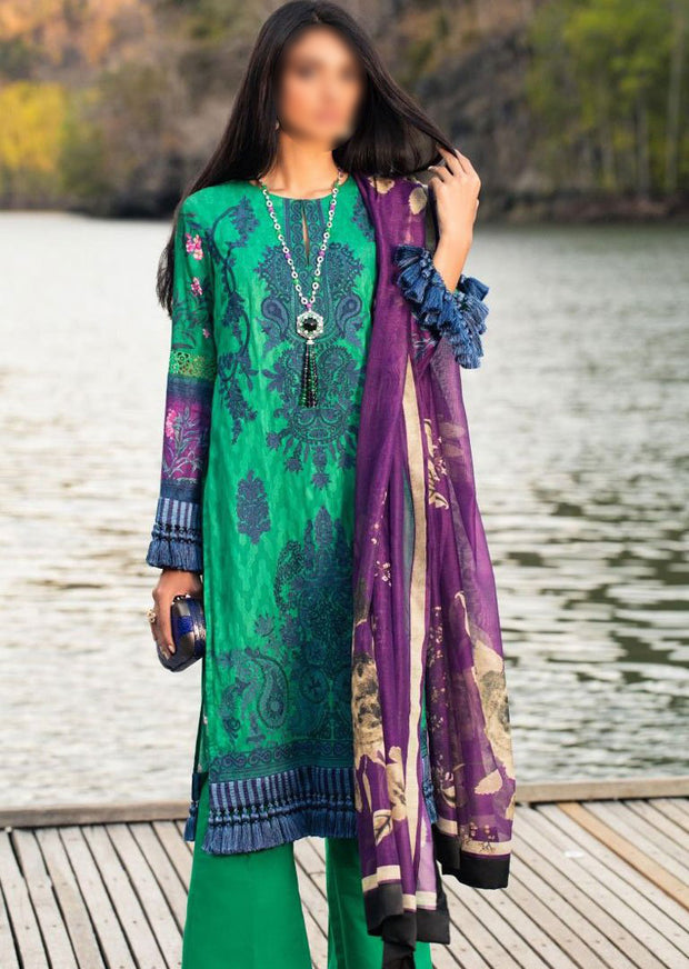 13A Unstitched Luxury Lawn Spring/Summer 2020 - Memsaab Online