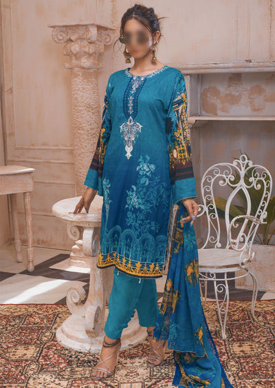 AMT20031 - Readymade Embroidered Lawn Suit - Memsaab Online