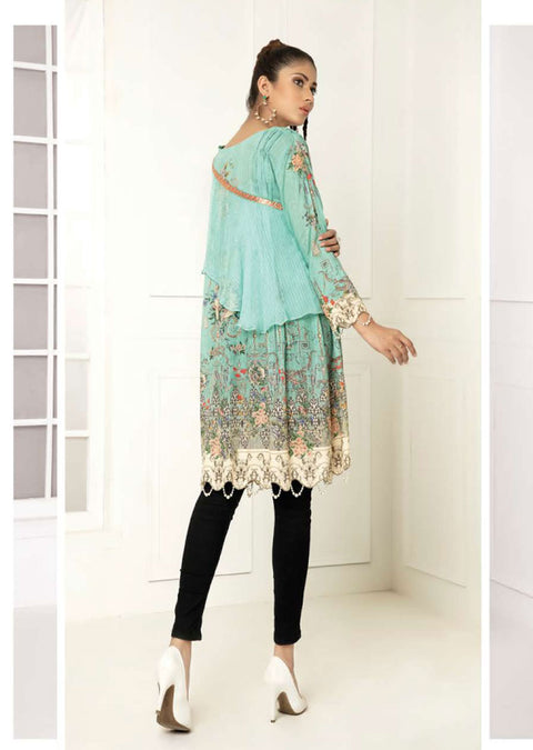 Design 13 - Nouroze Light Blue Lawn Embroidered Kurti - Memsaab Online