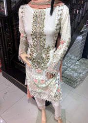 1493 Readymade Fancy Embroidered Chiffon Suit by Passion - Memsaab Online