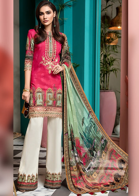 ANC14 - Unstitched Anaya Inspired Suit - Memsaab Online