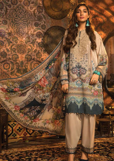 MIR-14A - Unstitched Maria B Inspired Winter Twill Suit - Memsaab Online