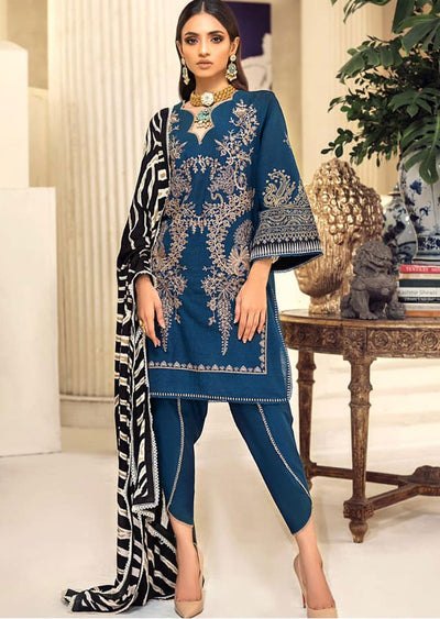M203-014A - Unstitched - Sana Safinaz Muzlin Winter Collection 2020 - Memsaab Online
