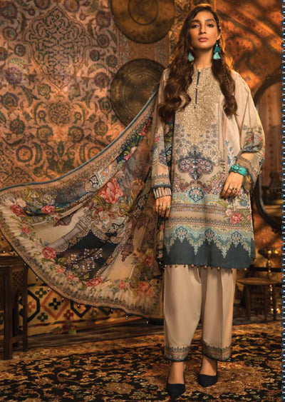 MPT-914-A - Unstitched - Maria B M.Prints Winter Collection 2020 - Memsaab Online