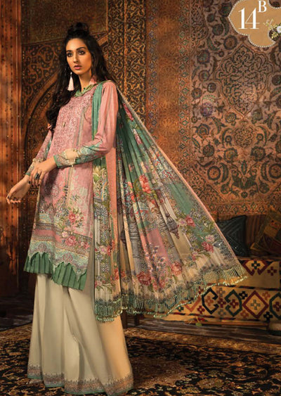 MPT-914-B - Unstitched - Maria B M.Prints Winter Collection 2020 - Memsaab Online
