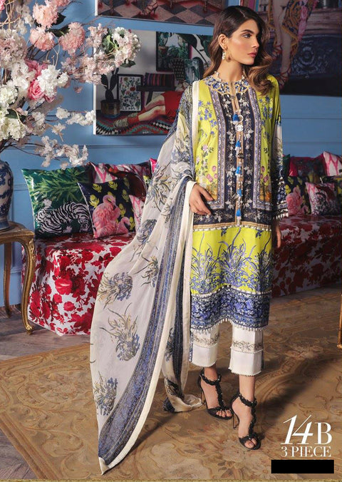14B Sana Safinaz Muzlin Vol 2 2019 Pakistani Designer Lawn Embroidered Collection UK & Worldwide DELIVERY - Memsaab Online