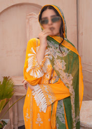AMT21002 - Readymade Premium Embroidered Lawn Suit - Memsaab Online