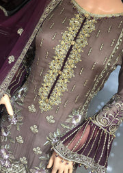 PS1593 Passion - Readymade Mauve Chiffon Suit - Memsaab Online