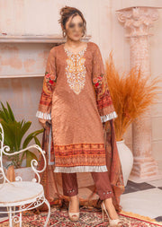 AMT20034- Readymade Embroidered Lawn Suit - Memsaab Online
