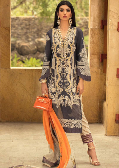 16B Unstitched Luxury Lawn Spring/Summer 2020 - Memsaab Online