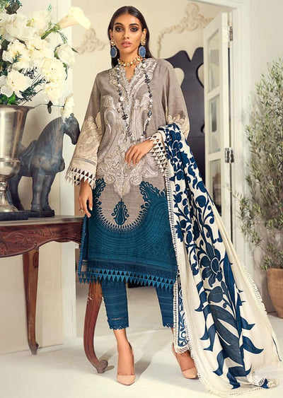 M203-017B - Unstitched - Sana Safinaz Muzlin Winter Collection 2020 - Memsaab Online