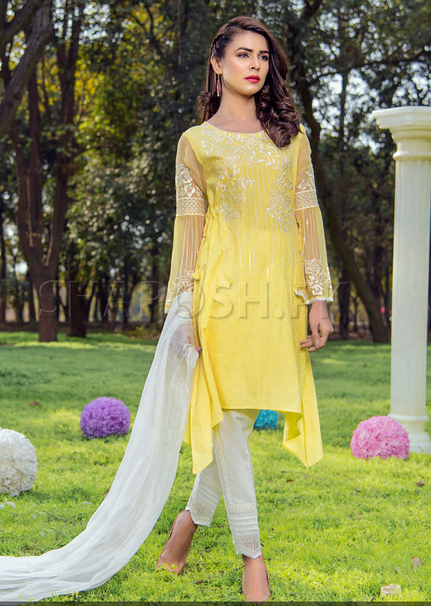 1831-NA - Yellow - Sha Posh - Readytowear- Lawn - Pakistani Casual-wear Design - Memsaab Online