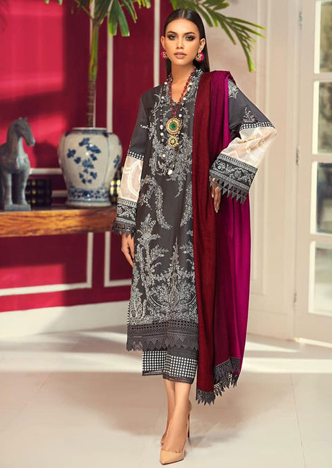 M203-018A - Unstitched - Sana Safinaz Muzlin Winter Collection 2020 - Memsaab Online