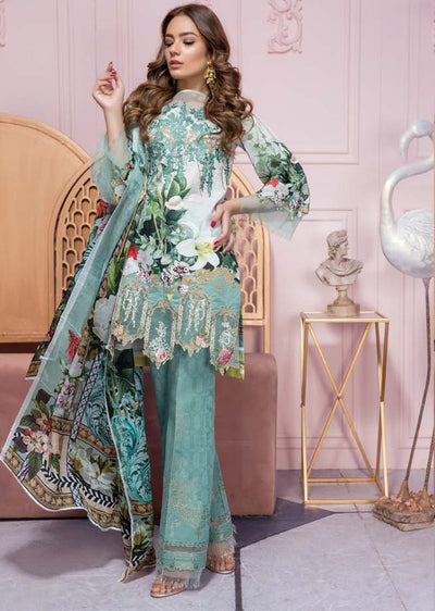 19-EE 19220 Firdous Concept Stores - Eid Exclusive - Embroidered Pakistani Lawn Suit - Memsaab Online