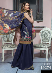 19-EE 19274 Firdous Concept Stores - Eid Exclusive - Embroidered Pakistani Lawn Suit - Memsaab Online