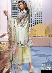 19-EE 19270 Firdous Concept Stores - Eid Exclusive - Embroidered Pakistani Lawn Suit - Memsaab Online