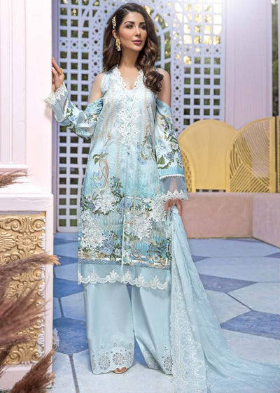 19-EE 19272 Firdous Concept Stores - Eid Exclusive - Embroidered Pakistani Lawn Suit - Memsaab Online