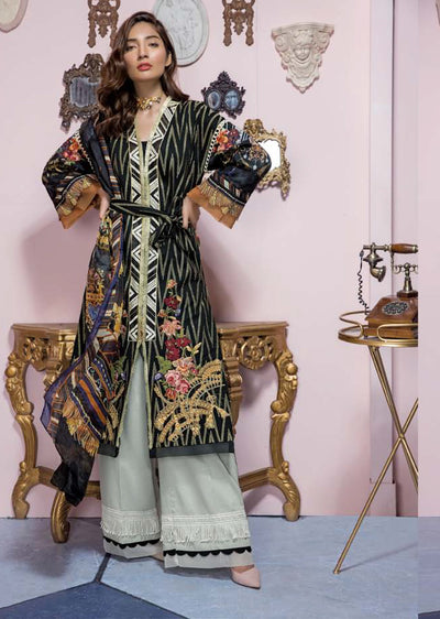 19-EE 19278 Firdous Concept Stores - Eid Exclusive - Embroidered Pakistani Lawn Suit - Memsaab Online