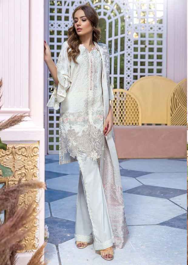 19-EE 19286 Firdous Concept Stores - Eid Exclusive - Embroidered Pakistani Lawn Suit - Memsaab Online
