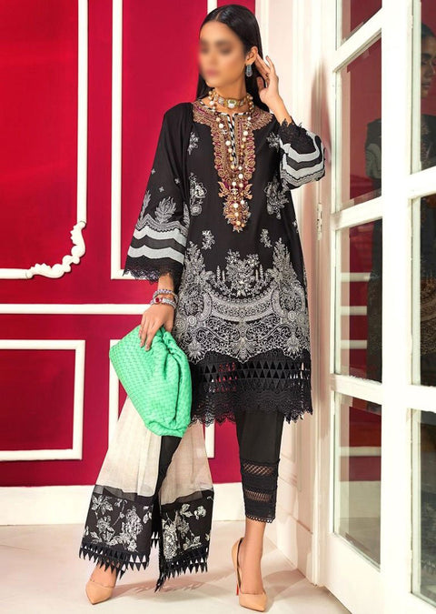 M203-001A - Unstitched - Sana Safinaz Muzlin Winter Collection 2020 - Memsaab Online