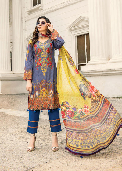 NS01 - Unstitched - Nishat Maysoori Embroidered Collection Vol 1 - Memsaab Online