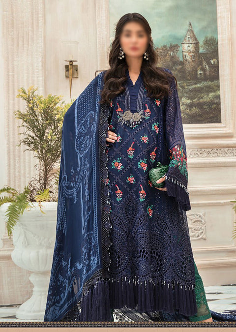 MSC01 - Unstitched - Maria B Embroidered Summer Collection 2020 - Memsaab Online