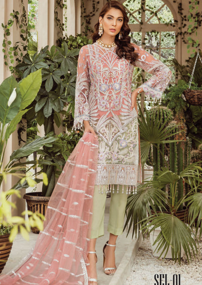 SEL01 - Simran Exclusive Chiffon Readymade Collection Vol 2 - Memsaab Online