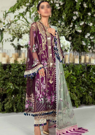 E201-001A - Unstitched - Sana Safinaz Luxury Festive Collection 2020 - Memsaab Online