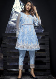 Serene - Light Blue - Eternal by Memsaab - Ready to Wear Pakistani Designer Suit with handwork - Memsaab Online