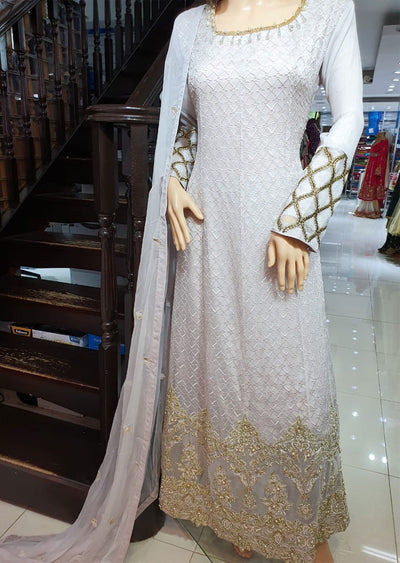 ZN9435 Readymade Chiffon Long Dress - Memsaab Online