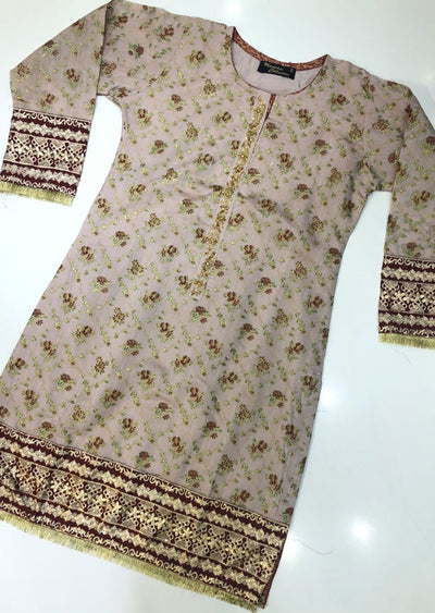 MR908 Readymade Mauve Paper Cotton Kurti - Memsaab Online