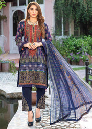 MSSL01 - Readymade - Munira Digital Airjet Lawn Collection 2020 - Memsaab Online