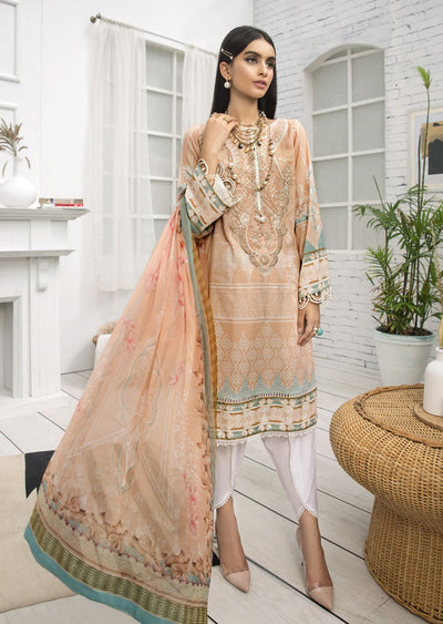 FBR01 - Unstitched - Farasha by Baroque Replica 2020 - Memsaab Online