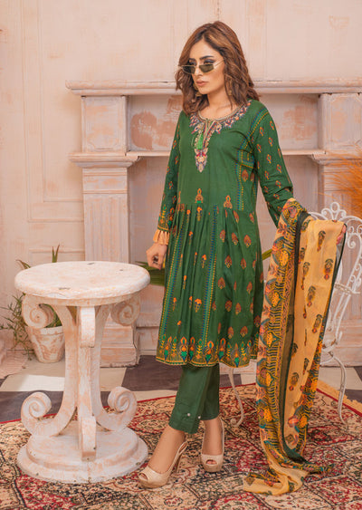 AMT20025 - Readymade Embroidered Lawn Dress - Memsaab Online