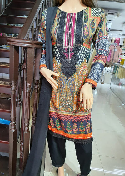 SM601 Simrans Readymade Linen Embroidered Suit - Memsaab Online