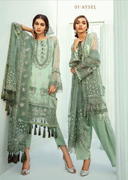 01 - Aysel - Unstitched - Janaan Luxury Chiffon Collection 2020 - Memsaab Online